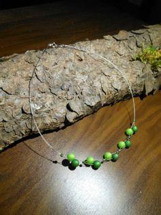 Neu-unikat-gruen-Polariskette-Regenbogen-Halskette-Collier-Polaris-perlen-kette
