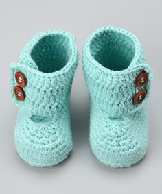 Knitoes & Co. Baby Blue Crocheted Bootie