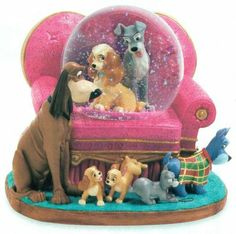 jim shore lady and the tramp figurine | Disney Snowglobes Collectors Guide: Lady and the Tramp Sofa Snowglobe