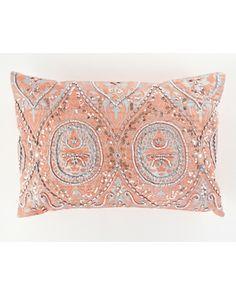 "14""x20"" Beaded Decorative Pillow"
