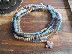 Hey, I found this really awesome Etsy listing at https://www.etsy.com/ca/listing/281419878/beachy-blue-gemstone-5x-wrap-bracelet-2x