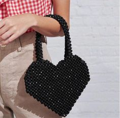 Red Beaded Heart Shaped Handbag,beaded handbag, Beaded clutch, Translucent beaded Tote, Top handle b Beaded Clutch, Beaded Purses, Beaded Bags, Beaded Top, Luxury Purses, Luxury Handbags, Luxury Bags, Cute Purses, Cheap Purses
