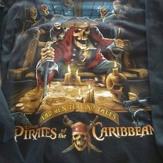 Pirates of the Caribbean black tee Purchased at Disney World.  Black long-sleeved t-shirt Disney Tops Tees - Long Sleeve