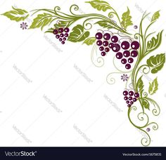 Colorful tendril with grapes and leaves. Download a Free Preview or High Quality Adobe Illustrator Ai, EPS, PDF and High Resolution JPEG versions.