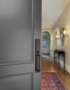 Bronze Installed in Full Size Interior Door Styles, Black Interior Doors, Door Design Interior, Modern Exterior Doors, Exterior House Colors, Black Bedroom Design, Camper Renovation, Paint Colors For Home, New Home Designs