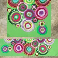 Abstract green and pink paintings 100x120x2 cm decor A103