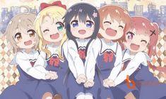 """Watashi ni Tenshi ga Maiorita! - Thiên thần """"đậu"""" xuống nhà tui Moe Manga, Moe Anime, Kawaii Anime, Manga Anime, Anime Gifs, Anime Friendship, Bff Drawings, Anime Group, Nisekoi"""