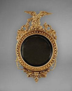 - A GEORGE III REGENCY CONVEX MIRROR Decoration, Art Decor, Folding Screens, Antique Mirrors, Fairest Of Them All, Convex Mirror, The Conjuring, Regency, Antique Furniture