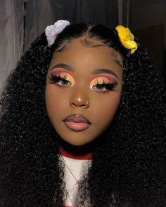 Cute Makeup Looks, Makeup Eye Looks, Gorgeous Makeup, Pretty Makeup, Glamour Makeup, Beauty Makeup, Hair Makeup, Black Girl Makeup, Girls Makeup