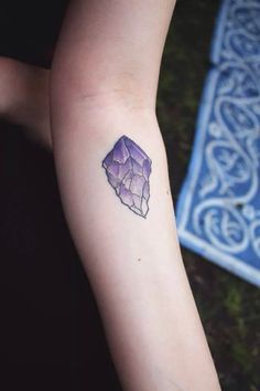 Saint Sabrina's - Minneapolis, MN, United States. My first tattoo (amethyst crystal) done by Taylor Dees