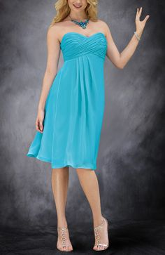 Knee-Length Sweetheart Bridesmaid Dress