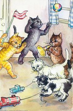 A.J. Macgregor, from Five Little Kittens, Ladybird, 1955.