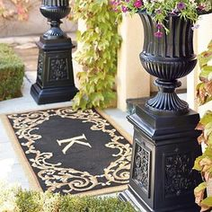 Fontaine Monogrammed Entry Mat - traditional - doormats - FRONTGATE
