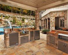 17 Stunning Covered Outdoor Kitchen Design Ideas