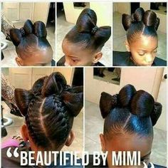 braids for kids Lil Girl Hairstyles, Natural Hairstyles For Kids, Kids Braided Hairstyles, Teenage Hairstyles, Beautiful Hairstyles, Little Girl Braids, Braids For Kids, Bow Braid, Curly Hair Styles