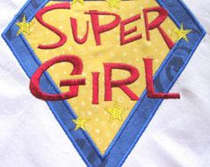 Super Girl Machine Applique Embroidery Design - 4x4, 5x7 & 6x8