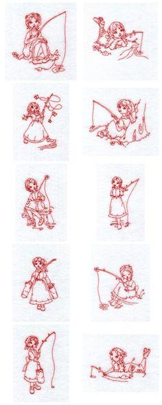 Redwork Embroidery Patterns   Found on designsbysick.com