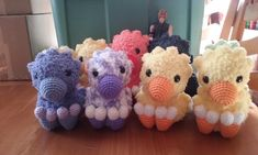 I made another chocobo for a commission, this time in solid purple! I have so many chocobos in the house, haha, there are NINE of them in that bottom pic. Three of which will hopefully be all sent off...