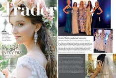 de Caron gold watch ring is featured in the May 2018 issue of Wedding Trader Magazine.