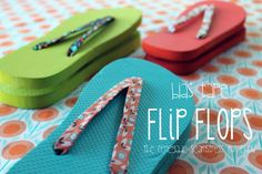Bias Tape Flip Flops | Here's an idea for the next time you blow out your flip flop in Margaritaville. Don't throw it away. Instead, use your colorful bias tape to fix it! | From: ehow.com