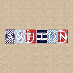 Nautical Collection Wall Letters Name Art Prints by PaperRamma, $9.50