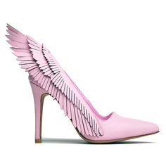 Tendencia ALAS / WINGS - Todo con unas alitas queda mejor incluidos estos zapatos de tacón alto > Pink Angyl Heel – NYLON SHOP #coolhunting #calzado