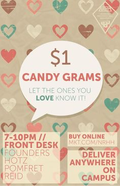 Candy Gram Sales = Valentine's Day Fundraiser  University of Arkansas Spring 2015