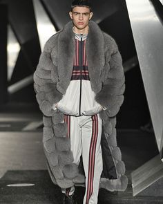 Adonis in Furs ( Mens Fur, Mens Trends, Street Style Looks, Good Looking Men, Style Me, Womens Fashion, Fashion Trends, How To Look Better, Winter Jackets