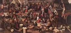 Medieval Market, Medieval Town, Framed Prints, Canvas Prints, Frame Shop, 16th Century, Middle Ages, Oil Painting On Canvas, Oil Paintings