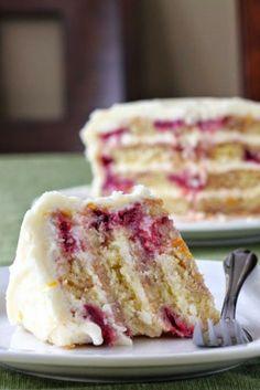 Food & Drink : secret recipe club: meyer lemon iced raspberry yogurt cake