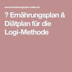 ᐅErnährungsplan & Diätplan für die Logi-Methode