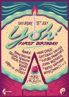 Yoh! Birthday Poster on Behance