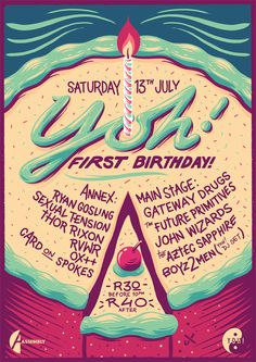 Yoh! Birthday Poster on Behance