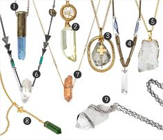 Crystal Jewelry: Rough Cut Shards
