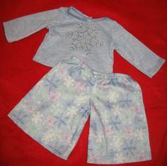 American Girl of Today Let It Snow Snowflake Pajama Sleep Set Retired PJs 2006 #ClothingShoes