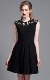 Tracy Reese Black Embellished Frock.  I love this dress a whole lot. So classic. So chic. So beautiful. SANTA: are you looking at my pinterest page? love this dress