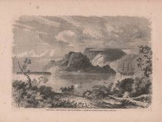 French Engraving from 1860  View of Vanikoro by reveriefrance