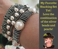 Leather and pearl jewelry is a staple for your women's accessories closet!!  #wrapyourstyle #uniquegifts #womensgifts #giftguide   #leatherbracet #magneticbracelet #womensjewelry
