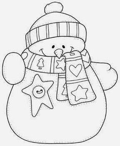 snowman hand embroidery pattern - would be cute on a Christmas card. Christmas Embroidery, Hand Embroidery, Embroidery Designs, Christmas Colors, Christmas Snowman, Christmas Patterns, Christmas Templates, Illustration Noel, Snowman