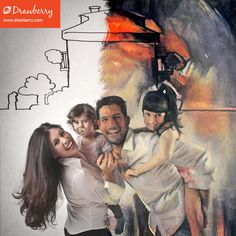 Custom family painting: get your cherished memories on canvas. Best artists compete to paint from your photo. Family Painting, Cherished Memories, My Favorite Music, Best Artist, Precious Moments, Family Photos, In This Moment, Canvas, Preserve