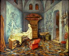 remedios Varo, Armonía (Autorretrato Sugerente), 1956. Óleo/Masonite. Cat.161-Armonía-1956
