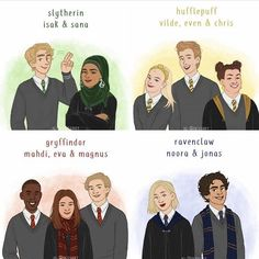 SKAM as Houses in HP