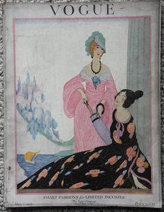 1919 Deco Vogue Magazine Helen Dryden Cover Dryden Vanity Fair Ad Complete WWI | eBay