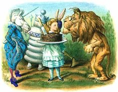 The lion and the unicorn Were fighting for the crown The lion beat the unicorn All around the town. Some gave them white bread, And some gave them brown; Some gave them plum cake and drummed them out of town.