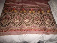 Antique Spitalfields silk shawl c 1820 | eBay