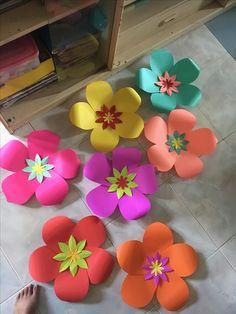 Moana Theme Paper Flower by GelleDIY