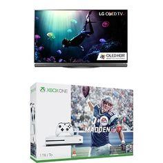 LG Electronics OLED55E6P Flat 55-Inch 4K OLED TV and Xbox One S 1TB Console...