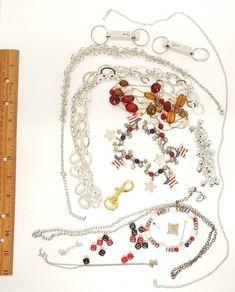 Jewelry Junk Drawer Estate Sale Auction Lot Random Necklace Chain Bracelet Beads