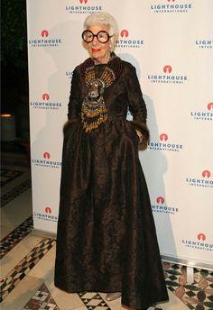 Iris Apfel wearing #mashaarcher jewels