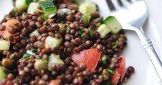 I love beluga lentil salad Lentil Salad Recipes, Healthy Salad Recipes, Clean Eating Recipes, Eating Clean, Keto Recipes, Clean Eating Grocery List, Legumes Recipe, Vegetarian Entrees, Healthy Eating Tips